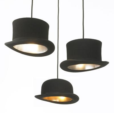Suspension wooster chapeau haut de forme haut de forme for Suspension luminaire argente