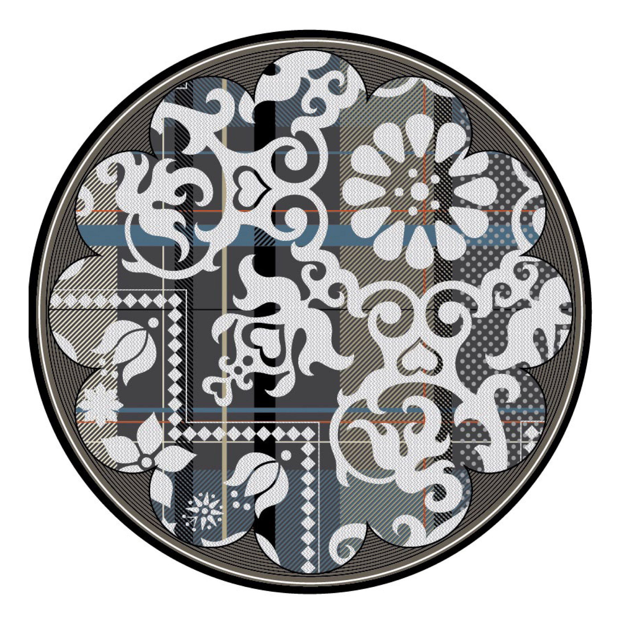 tapis fata morgana tj two rond 350 cm multicolore moooi. Black Bedroom Furniture Sets. Home Design Ideas