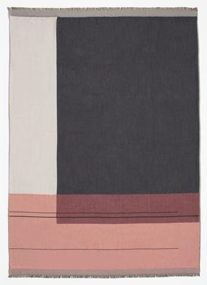 St-Valentin - Pour Elle - Plaid Colour Block / 130 x 180 cm - Coton - Ferm Living - Rose / Gris - Coton