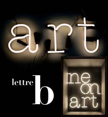 Foto Applique Neon Art - Lettera B di Seletti - Bianco - Vetro