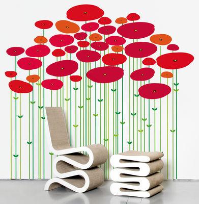 Interni - Sticker - Sticker Jungle coquelicot di Domestic - Rosso - Vinile