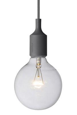 Luminaire - Suspensions - Suspension E27 - Muuto - Gris foncé - Silicone