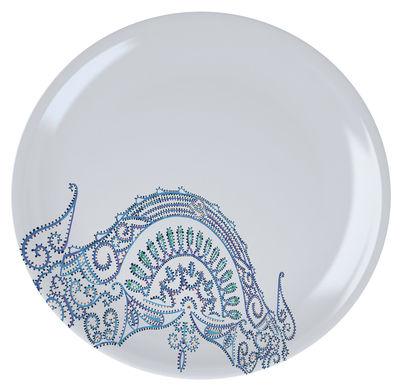 Assiette The White Snow Luminarie Ø 27,5 cm Porcelaine Driade bleu en céramique
