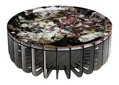Medusa XL Couchtisch / abnehmbare Tischplatte - Ø 65 cm - Ibride - Bunt,Blau, gebleicht