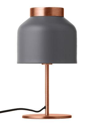 Foto Lampada da tavolo Tricot / H 32 cm - Frandsen - Grigio chiaro,Cuivre brossé - Metallo
