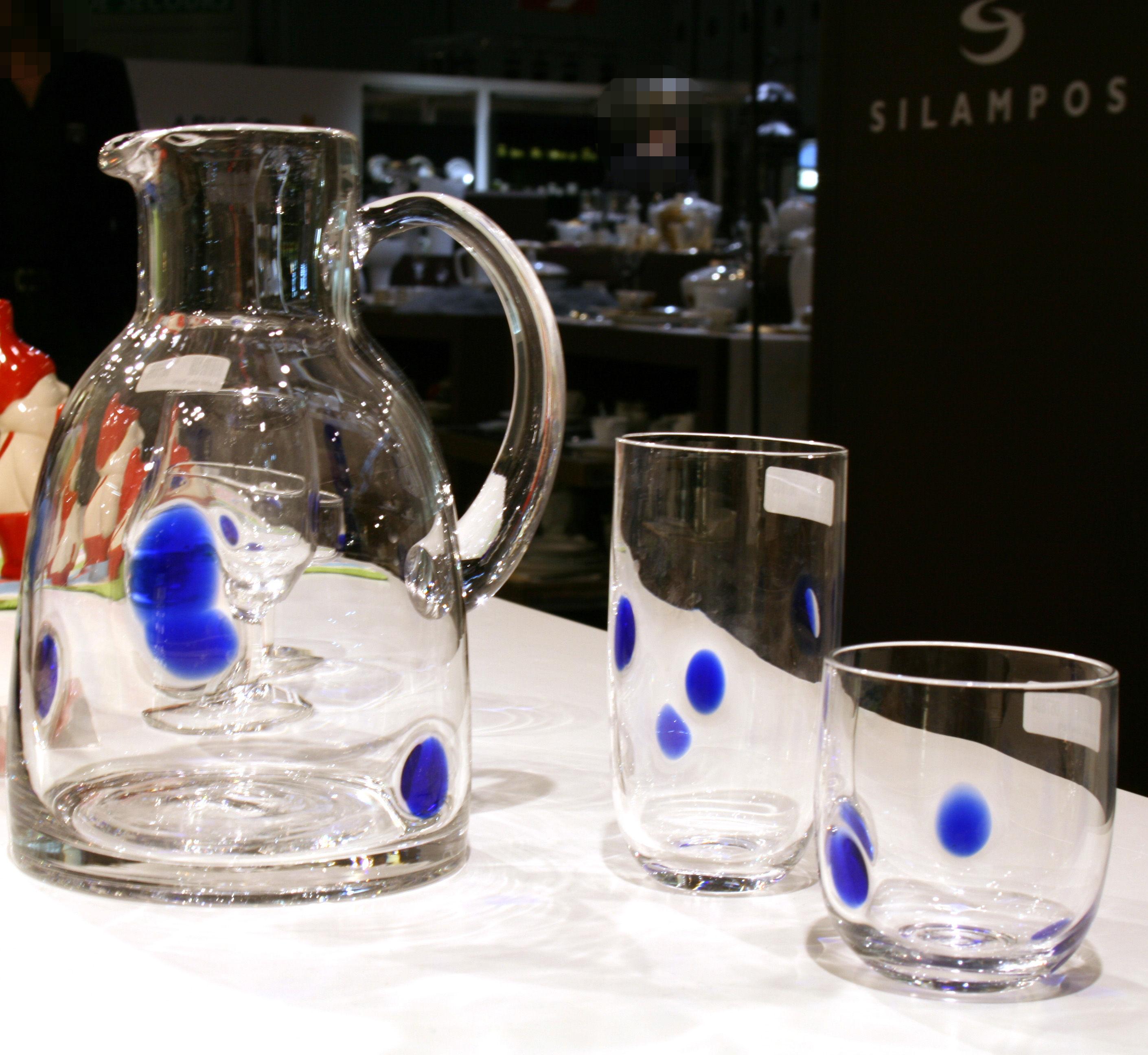verre whisky party bleu leonardo made in design. Black Bedroom Furniture Sets. Home Design Ideas