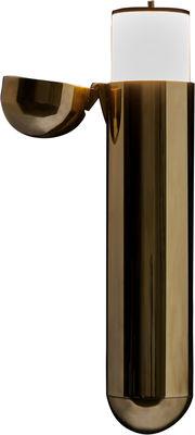Luminaire - Appliques - Applique ISP LED / L 37 cm - Ouverture gauche - DCW éditions - Ouverture gauche / Laiton - Laiton poli