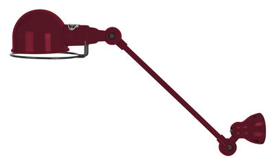 Applique Signal / 1 bras - L 30 cm - Jieldé bourgogne brillant en métal