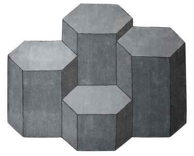 Tapis Basalte / XL - 230 x 200 cm - ENOstudio gris clair,gris foncé en tissu