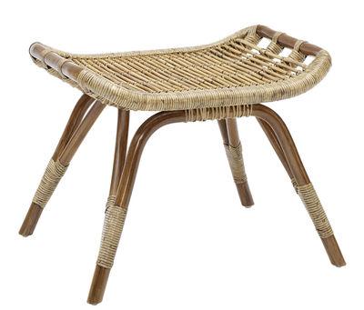 Mobilier - Poufs - Pouf Monet / Repose-pieds - Sika Design - Antique - Rotin