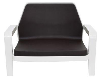 America Lounge Sessel lackiert - Slide - Schokolade,Weiß lackiert