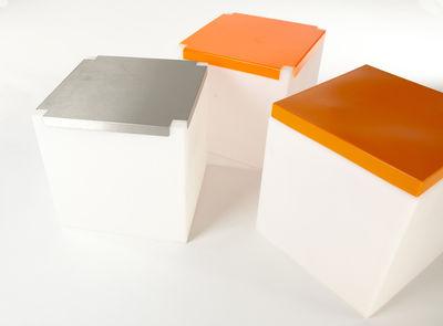 Soft cube sgabello luminoso con cuscino 43 cm bianco cuscino