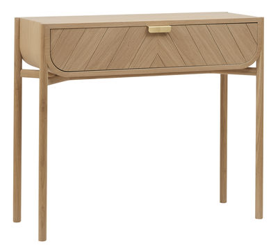 marius console with drawer l 100 cm natural oak by hart made in design uk
