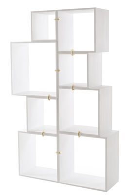 Image of Scaffale Assemblage - / 8 moduli di Seletti - Bianco,Ottone - Legno