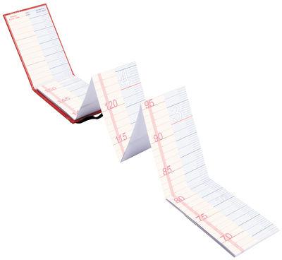 Déco - Pour les enfants - Carnet Toise familiale / Centimètre & inch - L'atelier d'exercices - Rouge / Centimètres (FR) et Inch (UK) - Papier Tyvek