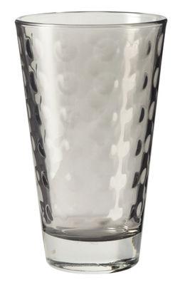 Arts de la table - Verres  - Verre long drink Optic / H 13 x Ø 8 cm - 30 cl - Leonardo - Gris basalte - Verre pelliculé