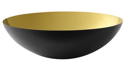Saladier Krenit / Ø 38 x H 12 cm - Acier - Normann Copenhagen noir,or en métal