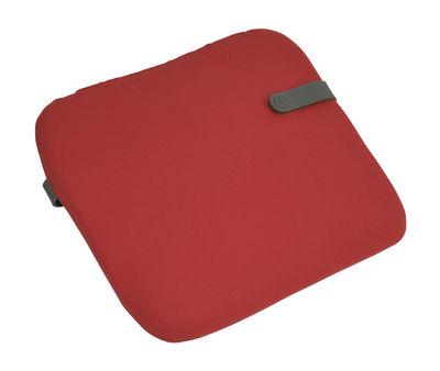 Galette de chaise Color Mix / 41 x 38 cm - Fermob romarin,rouge candy en tissu