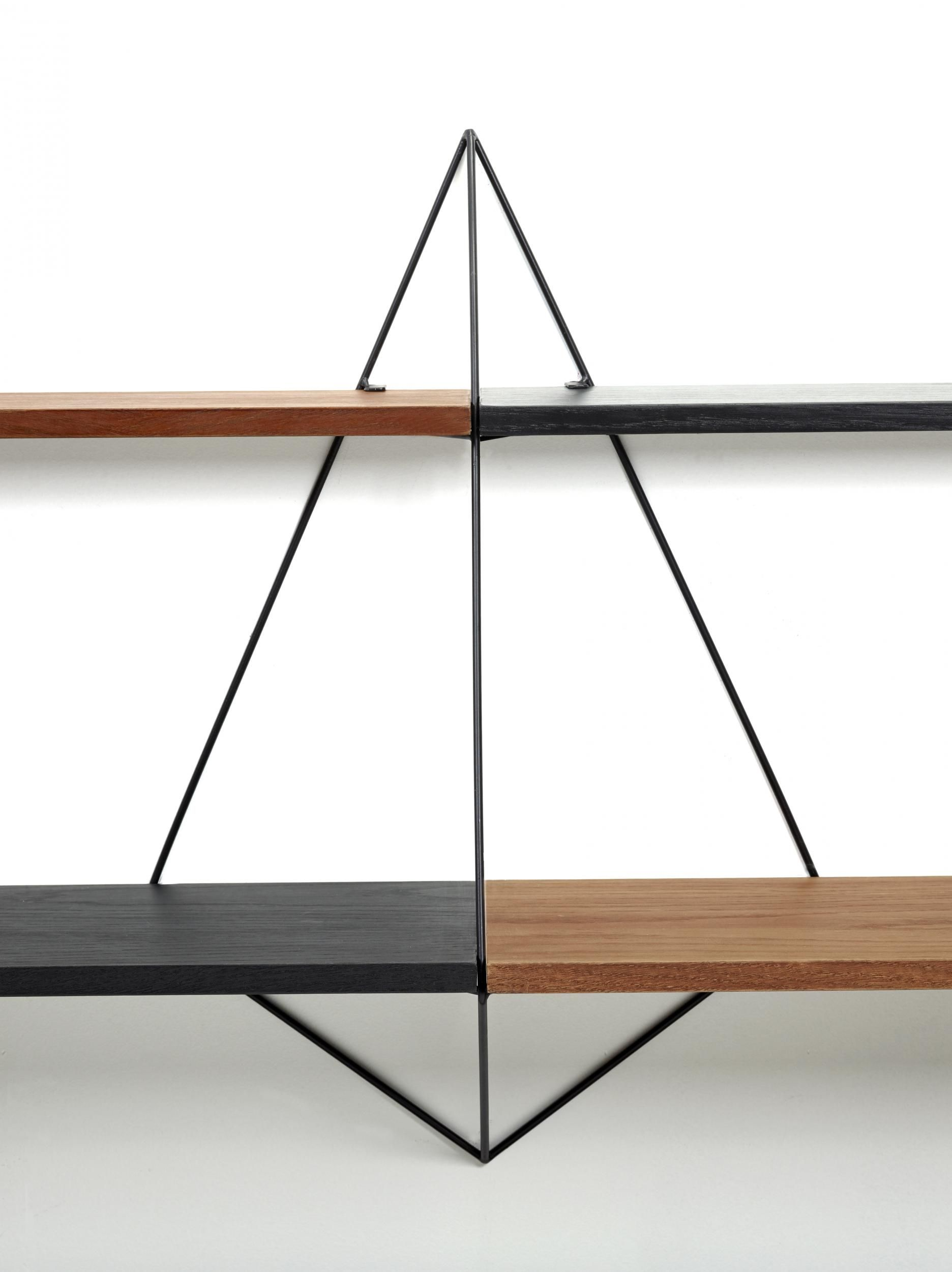 butterfly regal l 150 cm x h 64 cm holzfarben schwarz gestell schwarz by serax made in. Black Bedroom Furniture Sets. Home Design Ideas