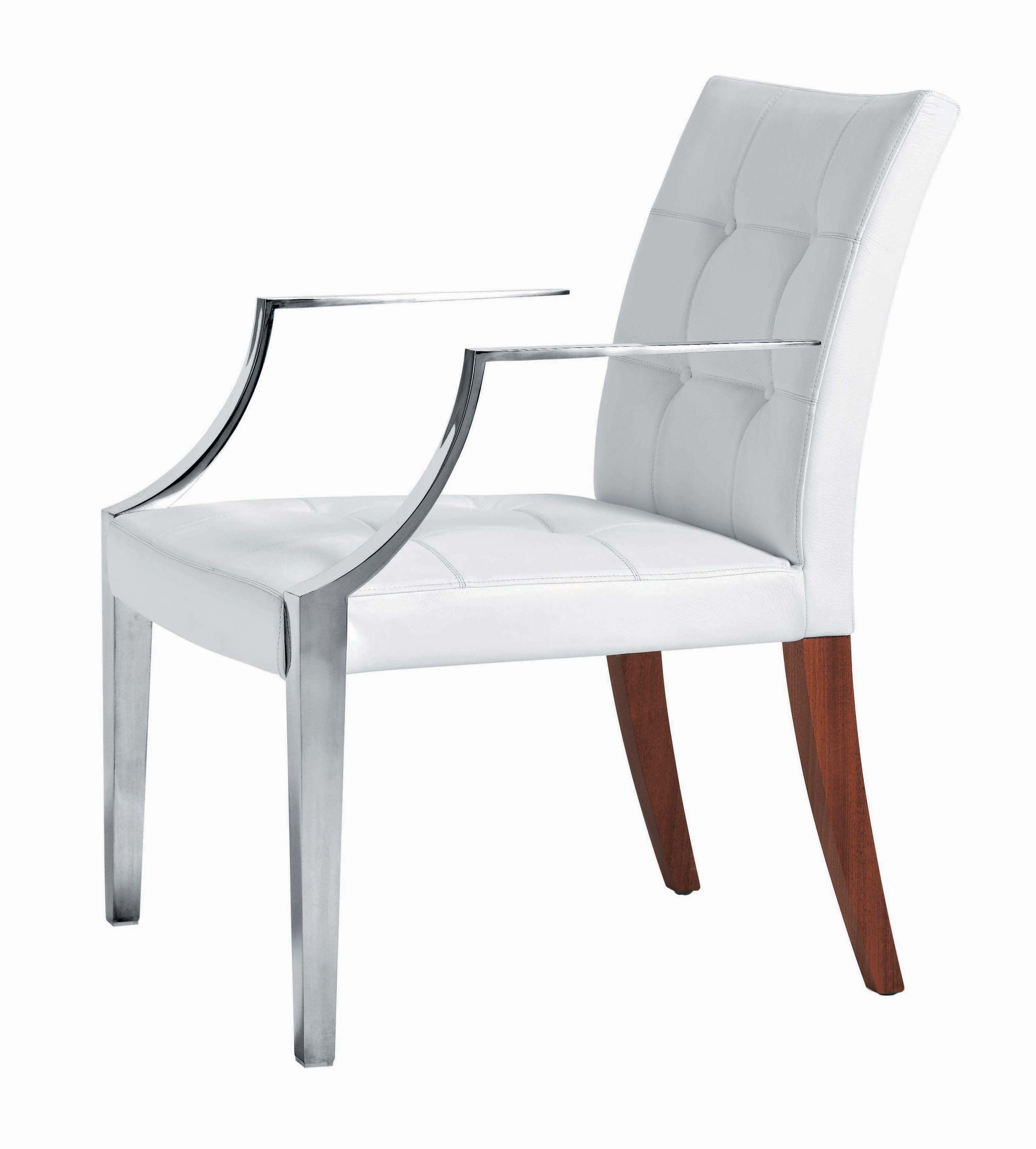 Monseigneur Padded Armchair Large Leather White