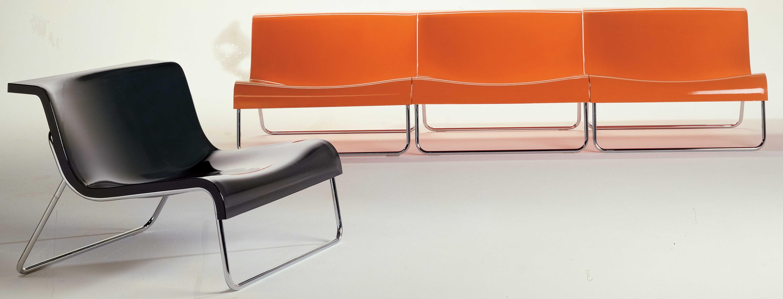 form low armchair orange by kartell. Black Bedroom Furniture Sets. Home Design Ideas