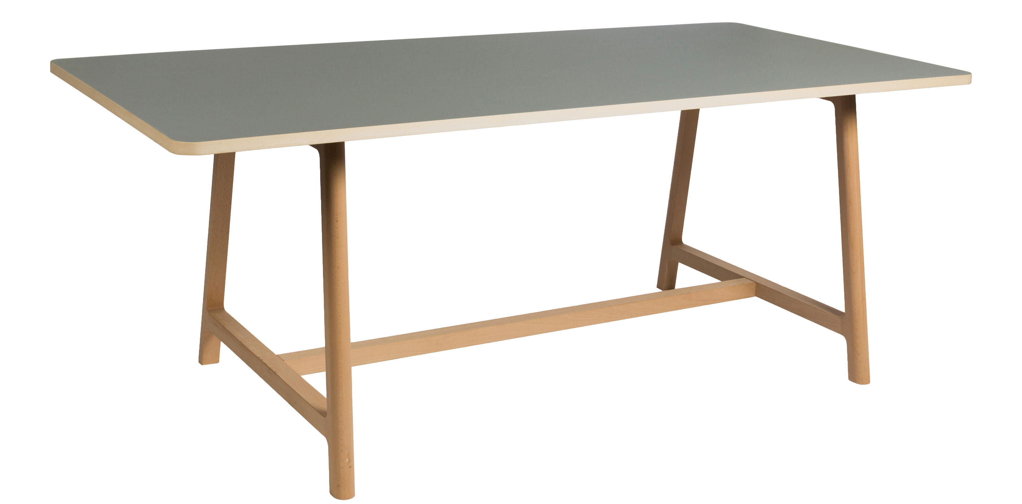 Frame Table L 200 cm / Grey top & natural wood by Hay