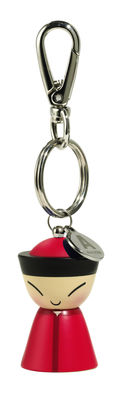 Accessories -  Jewellery - Mr. Chin Key ring by A di Alessi - Red - Thermoplastic resin