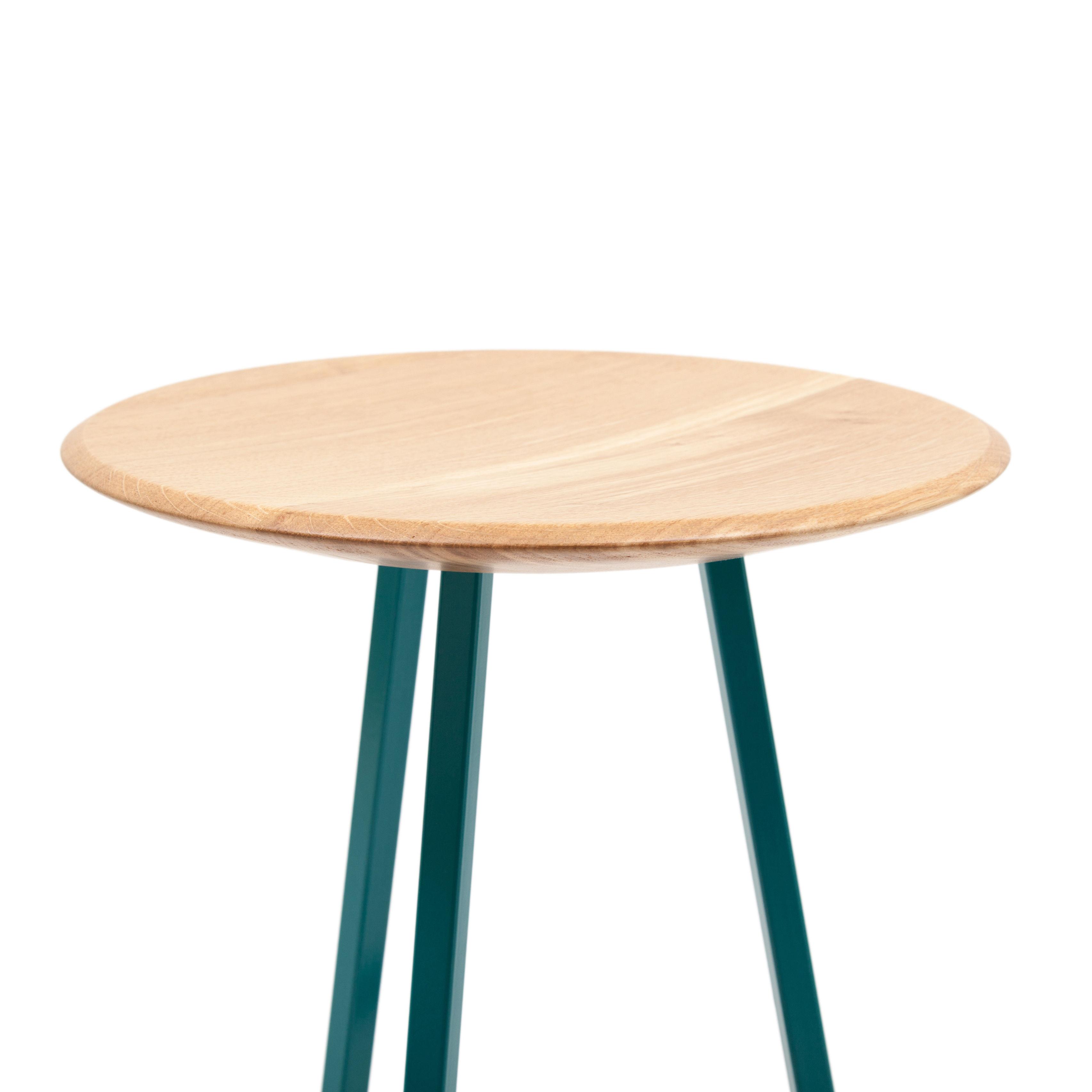 tabouret de bar grand gustave h 77 cm bois m tal bleu d 39 eau hart made in design. Black Bedroom Furniture Sets. Home Design Ideas