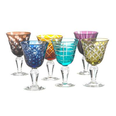 Verre à vin Cuttings / Set de 6 - Pols Potten multicolore en verre