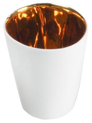 Tasse Assoiffés / Lot de 2 - Tsé-Tsé blanc,or en céramique