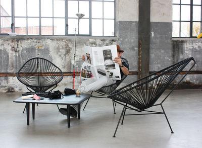 fauteuil bas acapulco noir ok design pour sentou edition. Black Bedroom Furniture Sets. Home Design Ideas