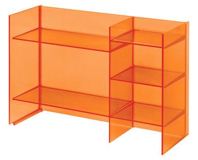 Foto Mobile contenitore Sound-Rack - / L 75 x H 53 cm di Kartell - Arancio mandarino - Materiale plastico