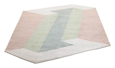 Tapis Mallorca Fait main 160 x 265 cm Bolia rose,gris,vert,ecru en tissu
