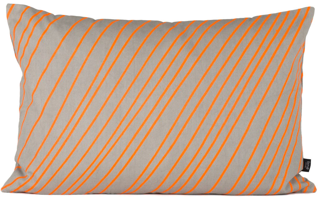 coussin striped small 60x40 cm orange gris ferm living. Black Bedroom Furniture Sets. Home Design Ideas