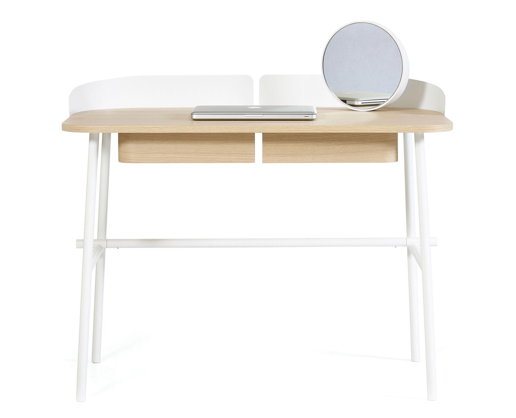 bureau victor blanc bois naturel hart. Black Bedroom Furniture Sets. Home Design Ideas