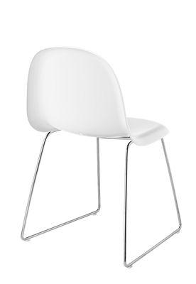 Chaise gubi 1 coque plastique pieds m tal coque for Chaise coque blanche