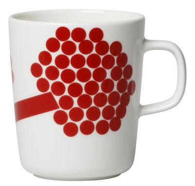 Mug Hortensie / 25 cl - Marimekko blanc,rose,rouge en céramique