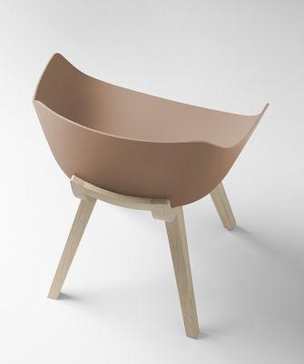Lounge sessel holz  Kuskoa Bi / Bio-Kunststoff & Stuhlbeine aus Holz | Alki | Sessel
