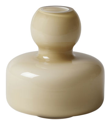 Image of Vaso singolo Flower - / Vetro - Ø 10 x H 10 cm di Marimekko - Beige nude - Vetro