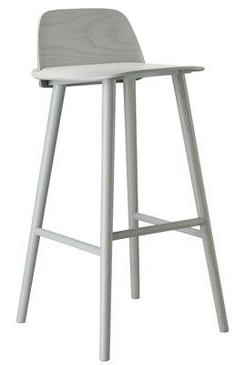 Foto Sedia da bar Nerd - / Seduta H 75 cm di Muuto - Grigio - Legno