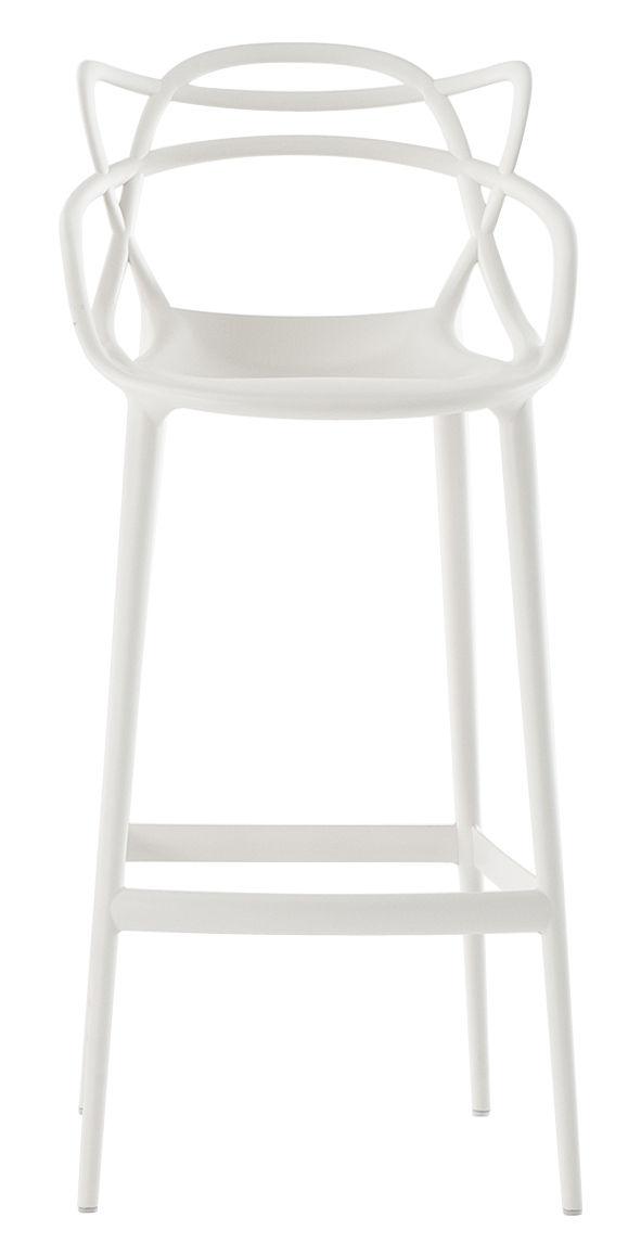 chaise de bar masters h 75 cm polypropyl ne blanc kartell. Black Bedroom Furniture Sets. Home Design Ideas