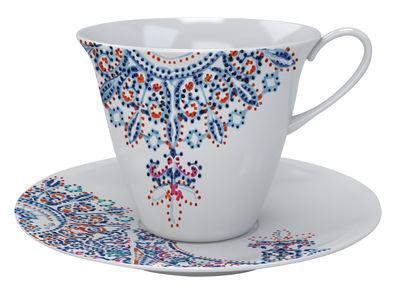 Soucoupe The White Snow Luminarie / Porcelaine - Driade bleu en céramique