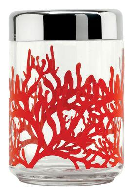 Accessories - Bathroom Accessories - Mediterraneo Airtight jar - Airtight by Alessi - 100 cl - Glass, Stainless steel