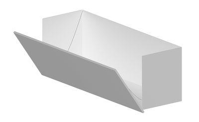 Cassettiera - con anta /Per libreria Easy Irony - L 100 cm di Zeus - Bianco - Metallo