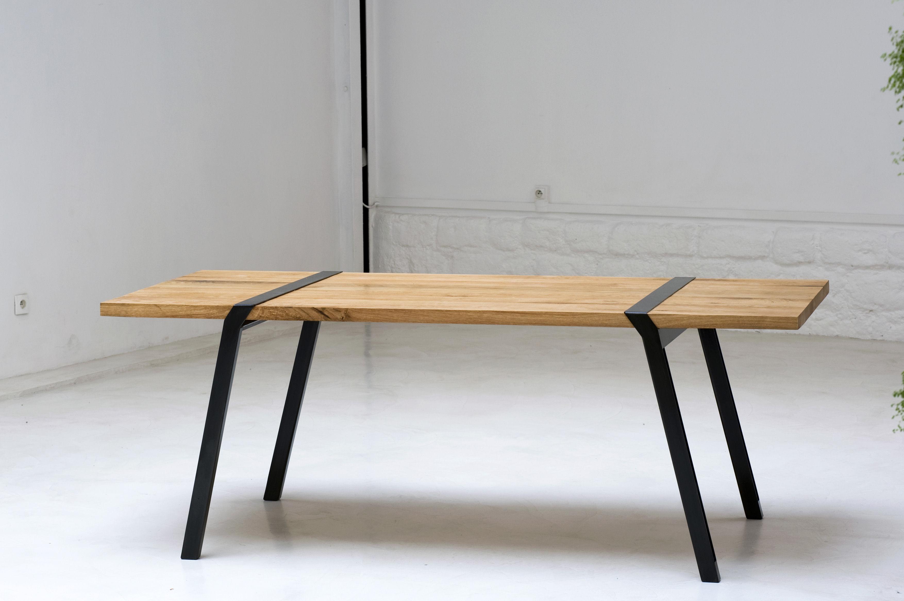 pi table l 200 cm indoor oak dark grey l 200 cm by moaroom made in design uk. Black Bedroom Furniture Sets. Home Design Ideas