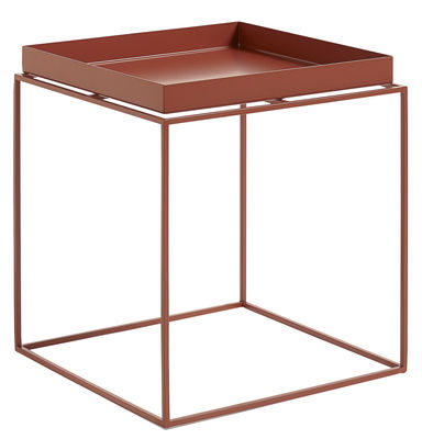 Tray Couchtisch H 40 cm / quadratisch - 40 x 40 cm - Hay - Rot