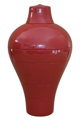 Service de table Ming /6 pièces empilables - Ibride rouge en matière plastique