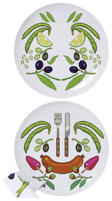 Assiette Surface 02 Y'mie 2 lot de 2 Ø 26,5 cm Domestic multicolore en céramique
