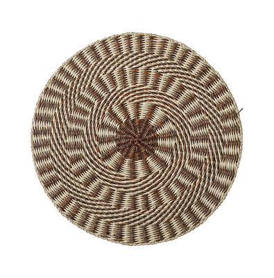 Set de table / Herbier marin - Ø 38 cm - Bloomingville marron en rotin & fibres