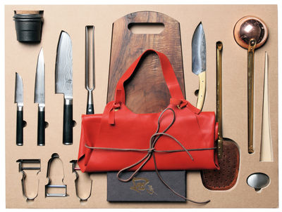 Set ustensiles de cuisine Malle W. Trousseau n°1 Coupe 16 pièces pour la découpe Malle W. Trousseau carton en métal